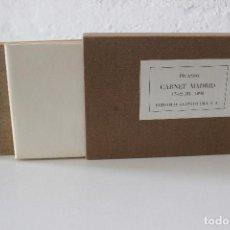 Libros de segunda mano: CARNET MADRID. FACSÍMIL DEL CUADERNO DE MADRID DE PICASSO, 1898. GUSTAVO GILI 1976. Lote 105990219