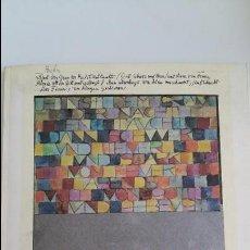 Libros de segunda mano: KLEE, OLEOS, ACUARELAS, DIBUJOS Y GRABAJOS. MARZO - MAYO 1981. FUNDACION JUAN MARCH. W . Lote 106040523