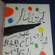 Libros de segunda mano: (M) JOAN MIRO OBRA INEDITA RECIENTE , SALA GASPAR 1964 , MIRO BARCELONA 1964 , JOAN BROSSA. Lote 107021515
