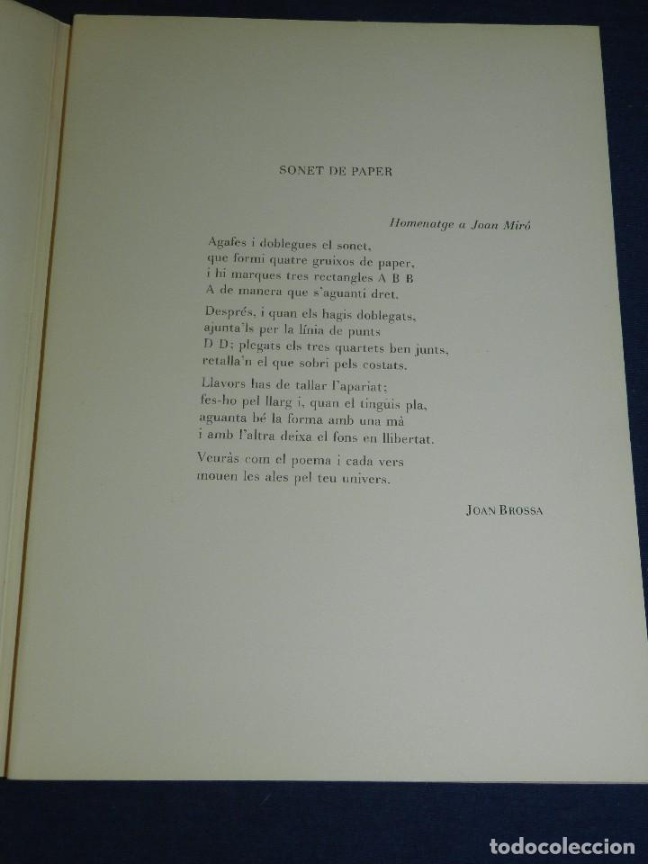 Libros de segunda mano: (M) JOAN MIRO OBRA INEDITA RECIENTE , SALA GASPAR 1964 , MIRO BARCELONA 1964 , JOAN BROSSA - Foto 2 - 107021515