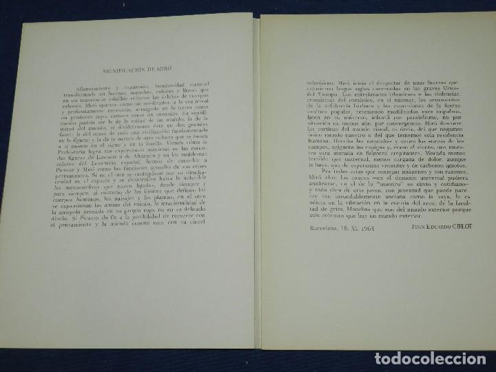 Libros de segunda mano: (M) JOAN MIRO OBRA INEDITA RECIENTE , SALA GASPAR 1964 , MIRO BARCELONA 1964 , JOAN BROSSA - Foto 5 - 107021515