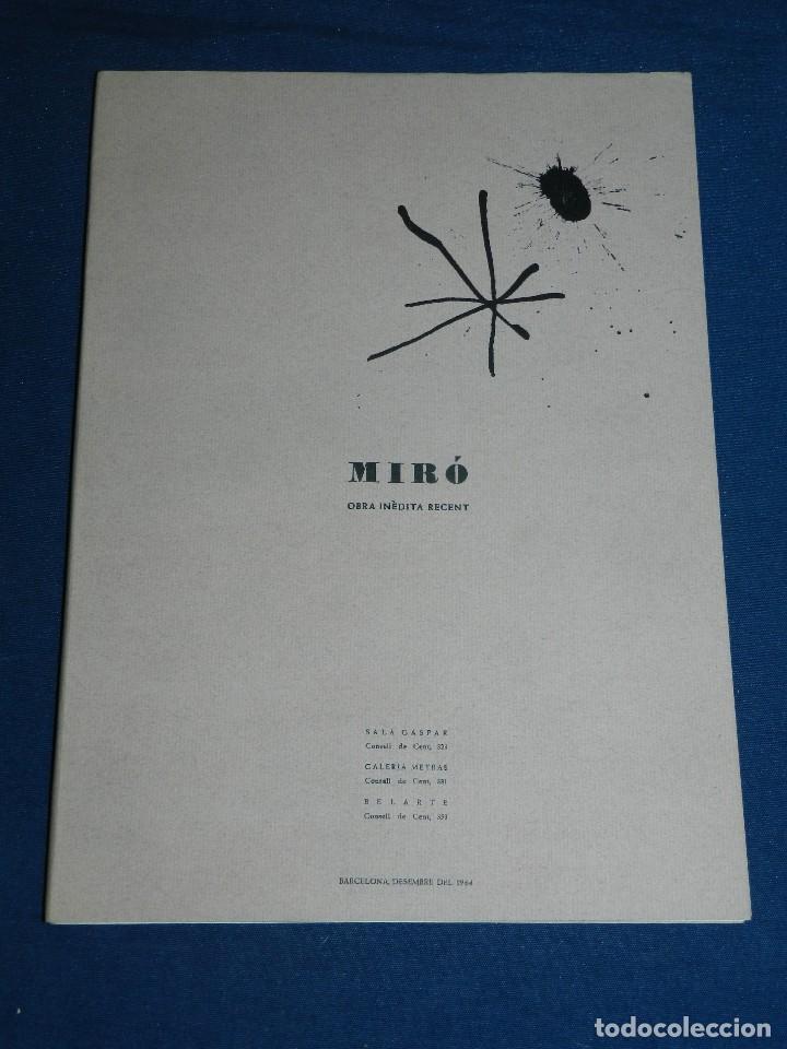 Libros de segunda mano: (M) JOAN MIRO OBRA INEDITA RECIENTE , SALA GASPAR 1964 , MIRO BARCELONA 1964 , JOAN BROSSA - Foto 10 - 107021515