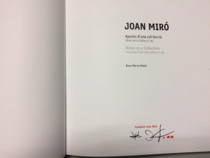 Libros de segunda mano: Joan Miró, apuntes de una colección. Colección Katsuta. Autora Rosa Maria Malet. NUEVO! - Foto 7 - 104803927
