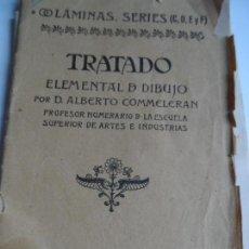 Libros de segunda mano - ALBERTO COMMELERAN: TRATADO ELEMENTAL DE DIBUJO - LÁMINAS SERIES A C, D, E , F Y H MADRID 1943 - 108831247