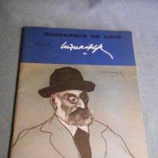 Libros de segunda mano: CUADERNOS DE ARTE. DIBUJOS DE LUZURIAGA. Lote 109389127