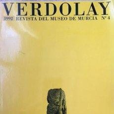 Libros de segunda mano: VERDOLAY 1992. ARQUEOLOGIA, PINTURA MURCIA, ALMELA COSTA, VILLACIS .... Lote 110105859