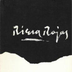 Libros de segunda mano: RIERA ROJAS. PINTURES -SALA GASPAR 1976-. Lote 110719651
