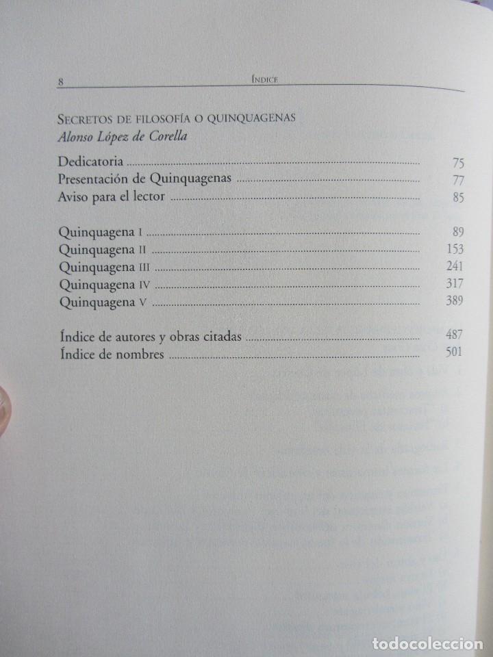 Libros de segunda mano: Secretos de filosofia y astrología y medicina y de las cuatro... Alonso López de Corella Navarra - Foto 8 - 111623059