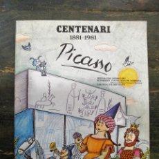 Libros de segunda mano: PICASSO. CENTENARI 1881-1981; FINA DURAN I PILARÍN BAYÉS; CAIXA DE PENSIONS LA CAIXA, 1981. Lote 112606431