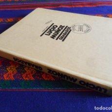 Libros de segunda mano: CON DEDICATORIA DEL PINTOR. LUCIO MUÑOZ GRABADOS DE MIGUEL LOGROÑO. GALERÍA MADRID JUANA MORDÓ 1984.. Lote 112891351