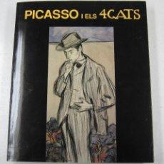 Libros de segunda mano: PICASSO I ELS 4 GATS, MARIA TERESA OCAÑA, 1995, MUSEU PICASSO, BARCELONA. 24,5X29CM. Lote 113567059