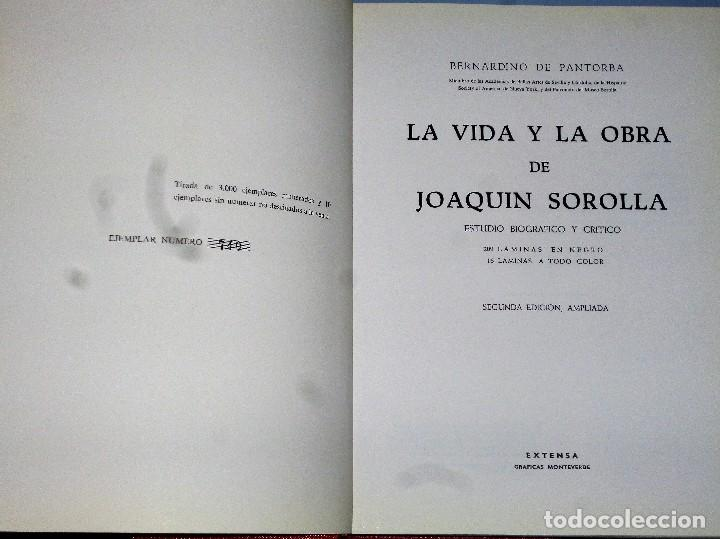 Libros de segunda mano: LA VIDA Y OBRA DE JOAQUIN SOROLLA. Estudio biográfico y crítico - Foto 2 - 159581125