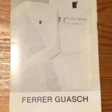 Libros de segunda mano: FERRER GUASCH(8€). Lote 118748767