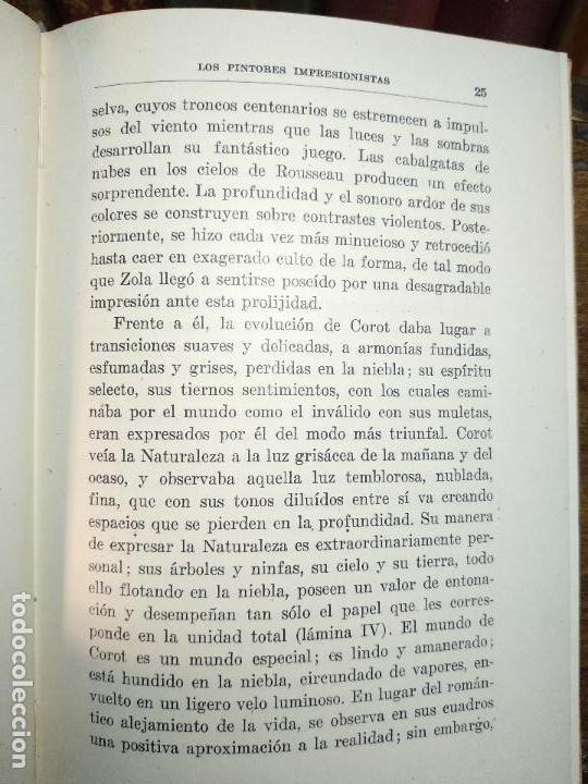 Libros de segunda mano: LOS PINTORES IMPRESIONISTAS - DR. BELÁ LAZAR - COLECCIÓN LABOR - BARCELONA - 1942 - - Foto 4 - 118979743