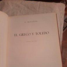 Libros de segunda mano: EL GRECO Y TOLEDO, LIBRO DE 1968 DE G.MARAÑON. Lote 119044927