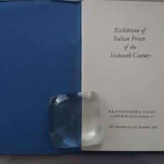 Libros de segunda mano: ITALIAN PRINTS OF THE SIXTEENTH CENTURY, P & D COLNAGHI & CO LTD. Lote 123020315