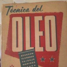 Libros de segunda mano: TECNICA DEL ÓLEO. LOS ELEMENTOS Y MÉTODOS PARA LA RESOLUCION PICTORICA DEL CUADRO. A. BOGIS LIOM.. Lote 123893687