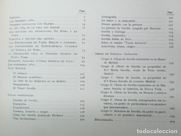 Libros de segunda mano: LA VIDA Y OBRA DE JOAQUIN SOROLLA. BERNARDINO DE PANTORBA. EDITORIAL MAYFE 1953. EJEMPLAR Nº 1828. - Foto 26 - 124099523