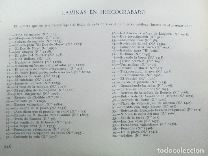 Libros de segunda mano: LA VIDA Y OBRA DE JOAQUIN SOROLLA. BERNARDINO DE PANTORBA. EDITORIAL MAYFE 1953. EJEMPLAR Nº 1828. - Foto 28 - 124099523