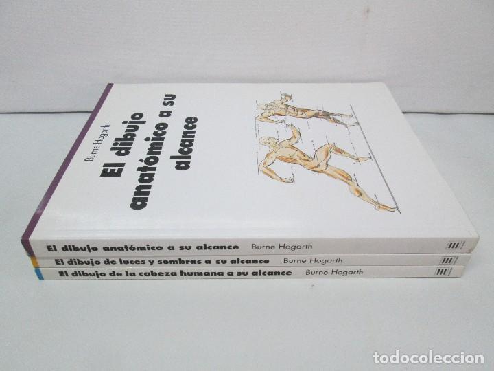 Libros de segunda mano: BURNE HOGARTH. EL DIBUJO DE LUCES Y SOMBRAS A SU ALCANCE. CABEZA HUMANA. ANATOMICO. 3 LIBROS - Foto 2 - 124191527