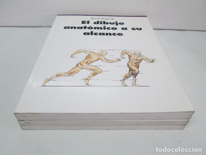 Libros de segunda mano: BURNE HOGARTH. EL DIBUJO DE LUCES Y SOMBRAS A SU ALCANCE. CABEZA HUMANA. ANATOMICO. 3 LIBROS - Foto 3 - 124191527