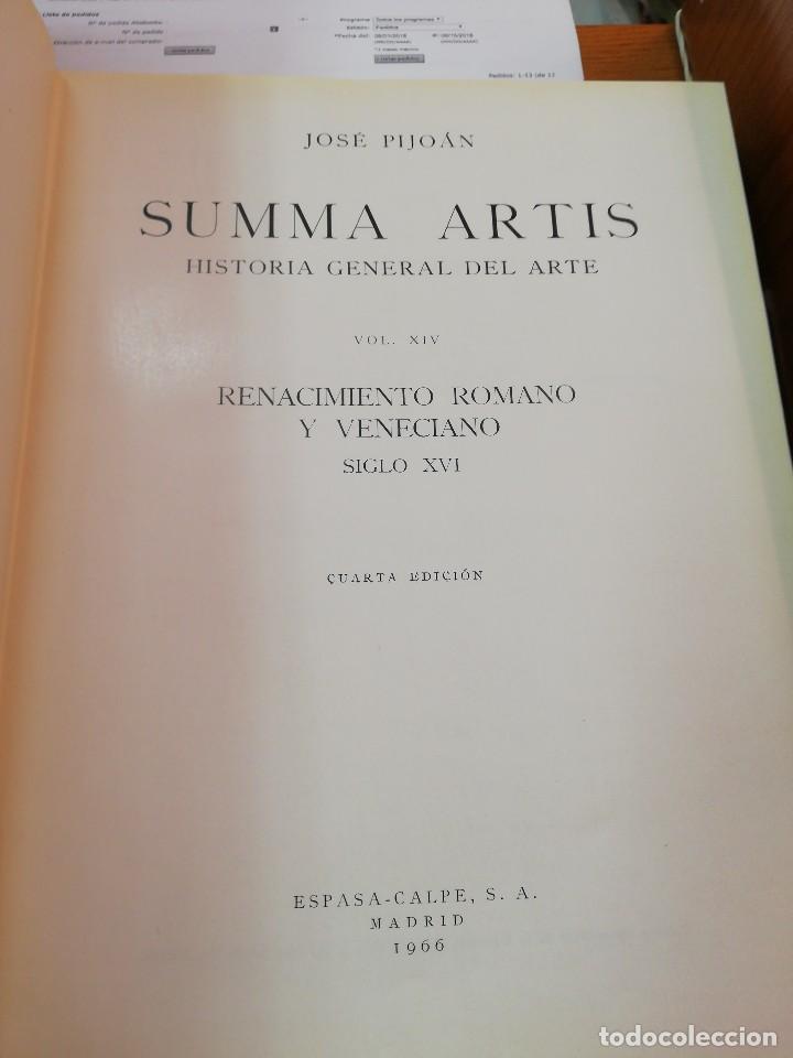 Libros de segunda mano: SUMMA ARTIS. XIV. Renacimiento Romano y Veneciano. Siglo XVI - Foto 2 - 125051387