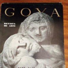 Libros de segunda mano: MIGUEL ANGEL. (VER SUMARIO). GOYA. REVISTA DE ARTE Nº 74,75 1.966. DOS NÚMEROS EN UN VOLUMEN. Lote 131180240