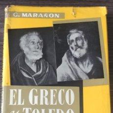 Libros de segunda mano: EL GRECO Y TOLEDO GREGORIO MARAÑÓN ESPASA CALPE. Lote 132062609