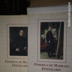 Libros de segunda mano: EPISTOLARIO. FEDERICO DE MADRAZO (2 TOMOS). Lote 149114789