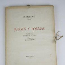 Libros de segunda mano: JUEGOS Y FORMAS, M. MONTPLÁ, WALTER F. STARKIE, JUAN CORTÉS, 1950, BARCELONA. 26X33CM. Lote 132908974