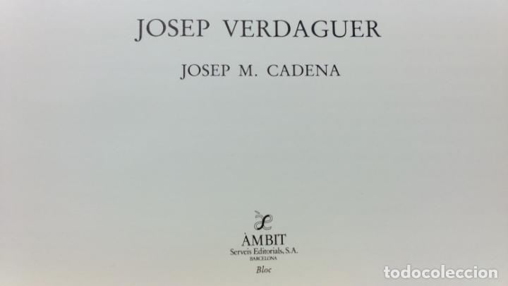 Libros de segunda mano: JOSEP VERDAGUER, BLOC DE NOTES ARTÍSTIQUES. POR JOSEP M. CADENA. ED. AMBIT, 1984. CON DEDICATORIA. - Foto 2 - 133094918