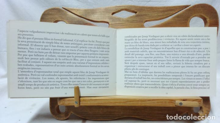 Libros de segunda mano: JOSEP VERDAGUER, BLOC DE NOTES ARTÍSTIQUES. POR JOSEP M. CADENA. ED. AMBIT, 1984. CON DEDICATORIA. - Foto 3 - 133094918