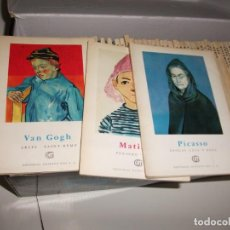 Libros de segunda mano: LOTE 64 LIBROS DE LA COLECCIÓN MINIA MEDIDA 15X 10,5 CM. GUSTAVO GILI VARIOS PINTORES AÑO 1959. Lote 133378178