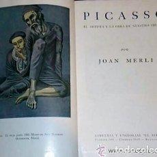 Libros de segunda mano: PICASSO. EL ARTISTA Y LA OBRA DE NUESTRO TIEMPO.(1942). Lote 133596726