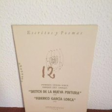 Libros de segunda mano: SKETCH DE LA NUEVA PINTURA (FEDERICO GARCÍA LORCA) - FEDERICO GARCÍA LORCA (ENRIQUE DÍEZ-CANEDO). Lote 135252114