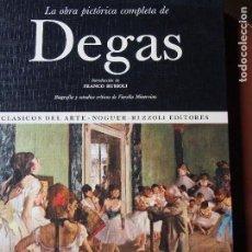 Libros de segunda mano: DEGÁS, LA OBRA PICTÓRICA COMPLETA DE - FIORELLA MINERVINO. Lote 138716326