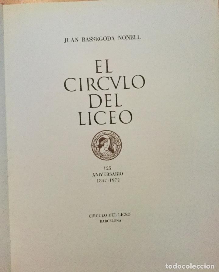 Libros de segunda mano: Libro 125 aniversario Cículo del Liceo - Foto 5 - 138944410
