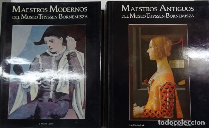 MAESTROS ANTIGUOS Y MODERNOS DEL MUSEO THYSSEN-BORNEMISZA LUNWERG 1994 2 VOLUMENES MUY BUEN ESTADO (Libros de Segunda Mano - Bellas artes, ocio y coleccionismo - Pintura)