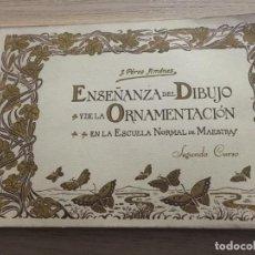 Libros de segunda mano: ENSEÑANZA DEL DIBUJO Y DE LA ORNAMENTACIÓN. SEGUNDO CURSO J. PÉREZ JIMÉNEZ. Lote 140509042