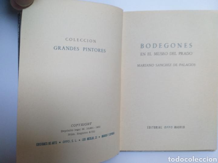 Libros de segunda mano: Pintura antigua . . Bodegones en el Museo del Prado Mariano Sánchez de Palacios 1965 - Foto 6 - 141676516