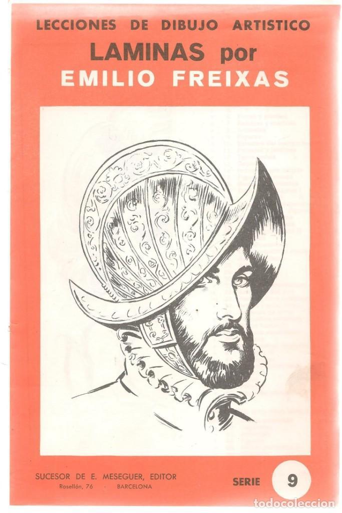 LECCIÓN DE DIBUJO ARTISTICO EMILIO FREIXAS. SERIE 9. ¡¡12 LÁMINAS, COMPLETA!!. E. MESEGUER.(ST/A01) (Libros de Segunda Mano - Bellas artes, ocio y coleccionismo - Pintura)