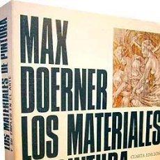 Libros de segunda mano - Los materiales de pintura y su empleo en el arte. (Técnicas; Pigmentos, aglutinantes, etc Doerner - 146223990