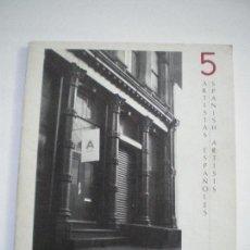 Libros de segunda mano: 5 ARTISTAS ESPAÑOLES . Lote 147018882