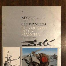 Libros de segunda mano: MIGUEL DE CERVANTES DON QUIJOTE DE LA MANCHA IUSTRADO POR DALÍ-MATEU-FASCICULO25(9€). Lote 148085498