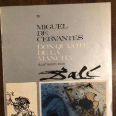 Libros de segunda mano: MIGUEL DE CERVANTES DON QUIJOTE DE LA MANCHA IUSTRADO POR DALÍ-MATEU-FASCICULO28(9€). Lote 148085946
