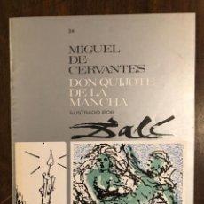 Libros de segunda mano: MIGUEL DE CERVANTES DON QUIJOTE DE LA MANCHA IUSTRADO POR DALÍ-MATEU-FASCICULO34(9€). Lote 148086658