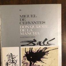 Libros de segunda mano: MIGUEL DE CERVANTES DON QUIJOTE DE LA MANCHA IUSTRADO POR DALÍ-MATEU-FASCICULO35(9€). Lote 148086718