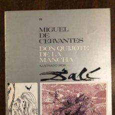 Libros de segunda mano: MIGUEL DE CERVANTES DON QUIJOTE DE LA MANCHA IUSTRADO POR DALÍ-MATEU-FASCICULO39(9€). Lote 148087218