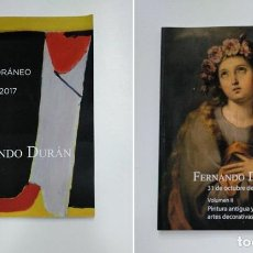 Libros de segunda mano - FERNANDO DURAN SUBASTAS. 30 Y 31 OCTUBRE DE 2017. VOLUMEN I Y II. PINTURA ANTIGUA Y ARTES. TDKR36 - 148157334