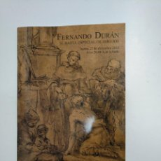 Libros de segunda mano - FERNANDO DURAN. SUBASTA ESPECIAL DE DIBUJOS. 27 DICIEMBRE 2018. TDKR36 - 148159474